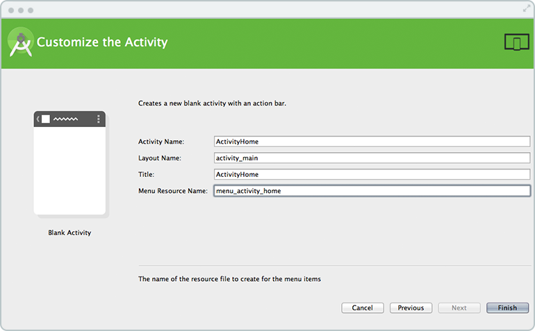 customize android activity